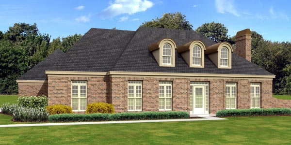 European House Plan 47968 Elevation