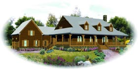 Country House Plan 47988 Elevation