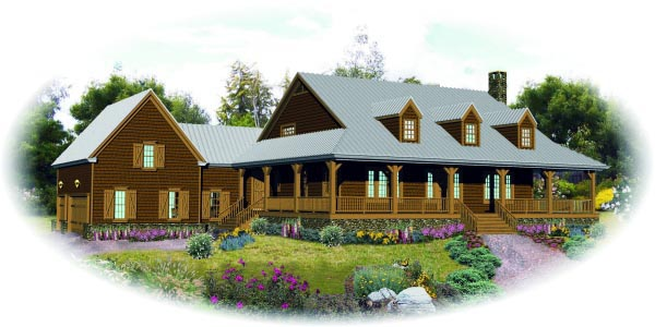 House Plan 47988 | Country Style Plan with 3968 Sq Ft, 4 Bedrooms, 4 Bathrooms, 3 Car Garage Elevation
