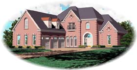 European Traditional House Plan 47992 Elevation