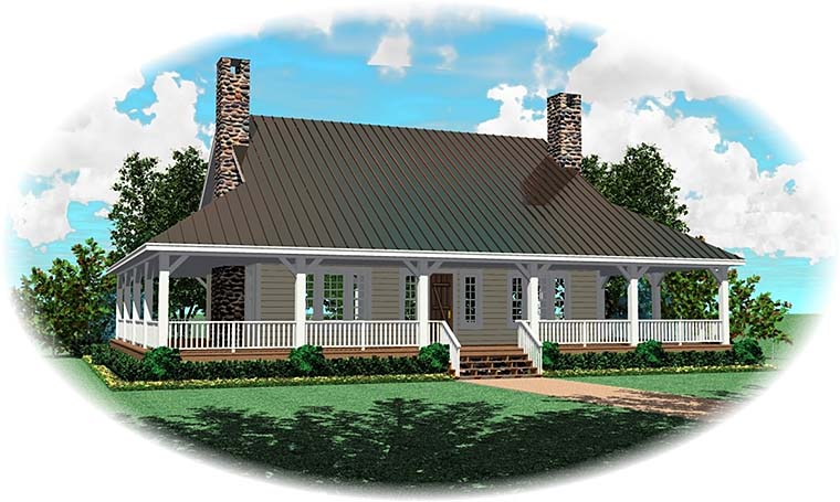 Country Farmhouse House Plan 47993 Elevation