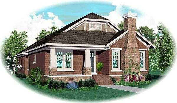 Craftsman House Plan 47995 Elevation