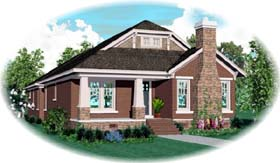 Bungalow , Craftsman House Plan 47996 with 3 Beds, 3 Baths, 2 Car Garage Elevation