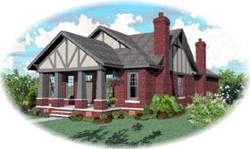 House Plan 47998 | Bungalow Craftsman Style Plan with 3000 Sq Ft, 4 Bedrooms, 3 Bathrooms, 2 Car Garage Elevation