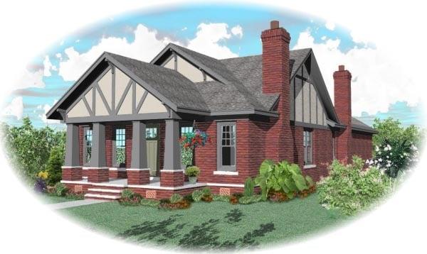 Bungalow Craftsman House Plan 47998 Elevation