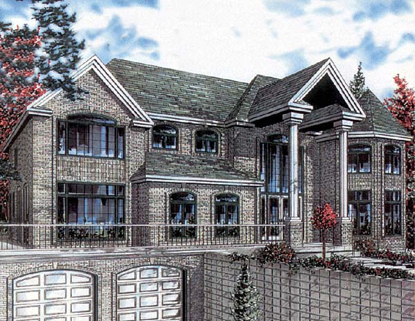 House Plan 48002 | Bungalow Style Plan with 3816 Sq Ft, 5 Bedrooms, 3 Bathrooms, 2 Car Garage Elevation