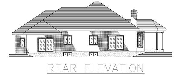 Bungalow House Plan 48004 Rear Elevation