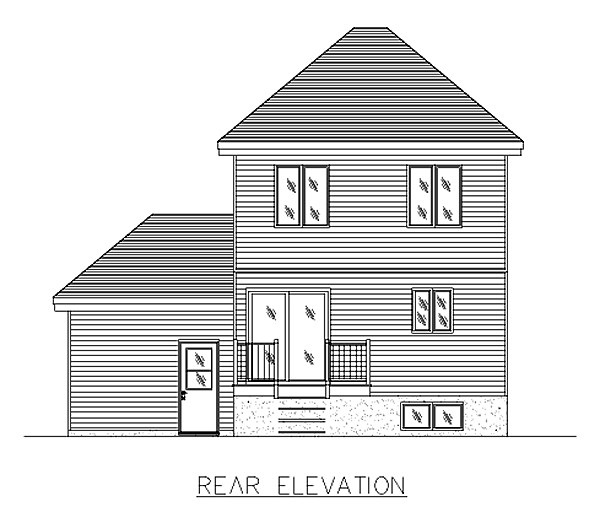 Bungalow House Plan 48006 Rear Elevation