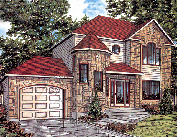 European House Plan 48012 Elevation