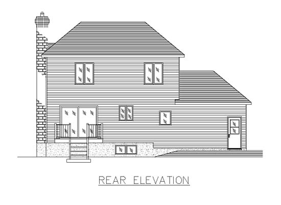 European House Plan 48012 Rear Elevation