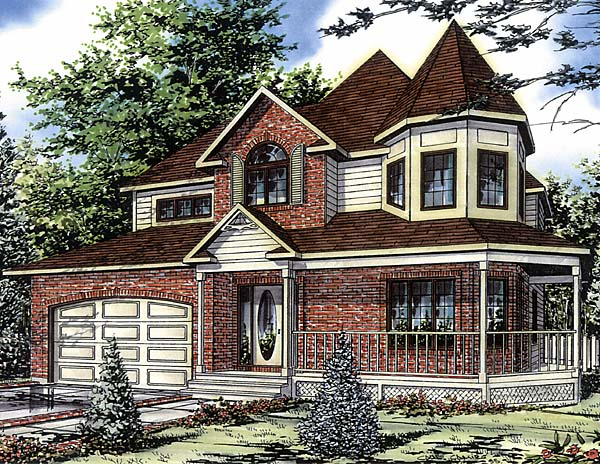 Country Victorian House Plan 48013 Elevation