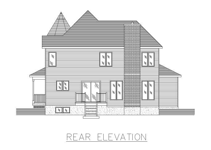 Country Victorian House Plan 48013 Rear Elevation