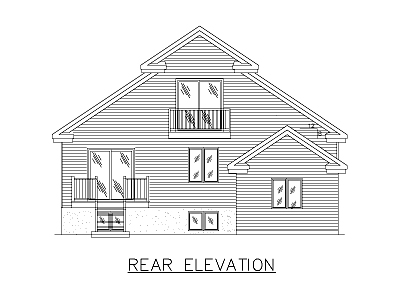 European House Plan 48019 Rear Elevation