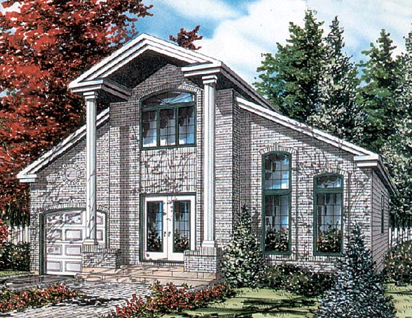 European House Plan 48020 Elevation