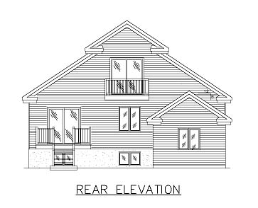 European House Plan 48020 Rear Elevation