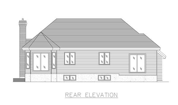 European House Plan 48021 Rear Elevation