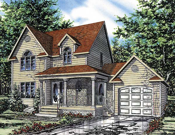 Country House Plan 48028 Elevation