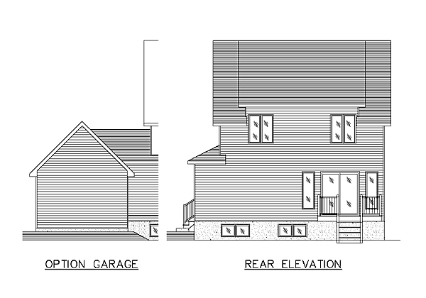Country House Plan 48028 Rear Elevation