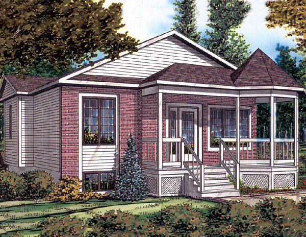 Bungalow House Plan 48030 Elevation