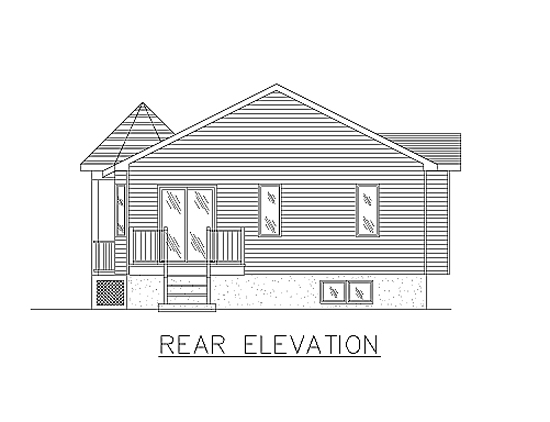 Bungalow House Plan 48030 Rear Elevation