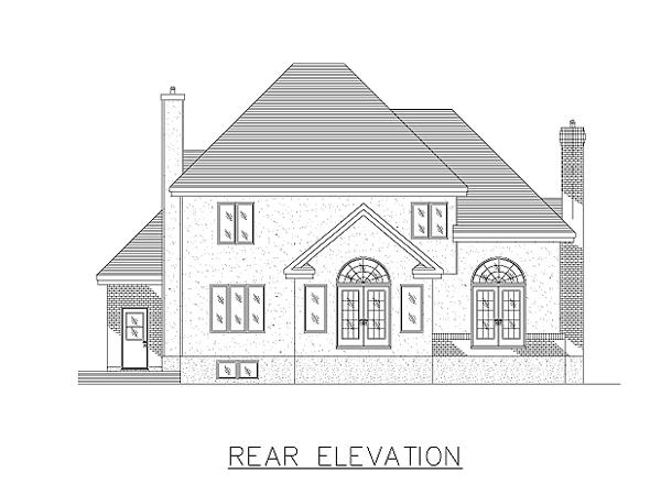 European House Plan 48031 Rear Elevation
