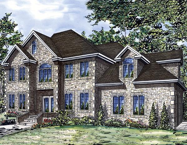 European House Plan 48033 Elevation