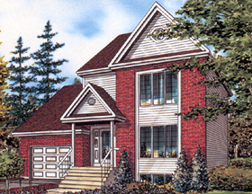 European House Plan 48034 Elevation