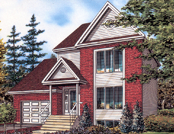 European House Plan 48035 Elevation