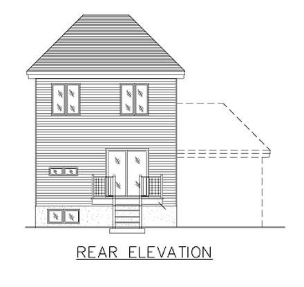 European House Plan 48035 Rear Elevation