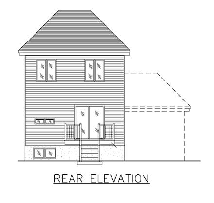 European House Plan 48035 Rear Elevation