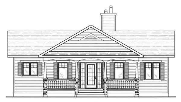 House Plan 48041 | Country Southern Style Plan with 2144 Sq Ft, 3 Bedrooms, 3 Bathrooms Rear Elevation