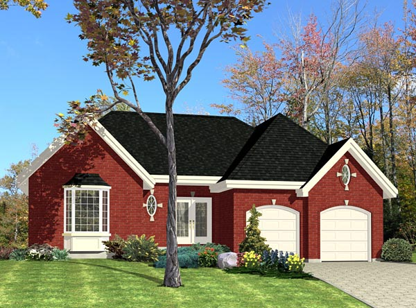 House Plan 48042 Elevation