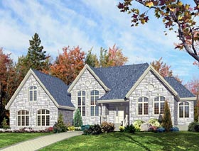 House Plan 48043 Elevation