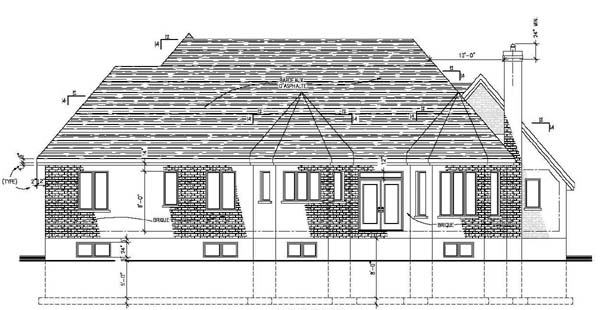 House Plan 48043 Rear Elevation