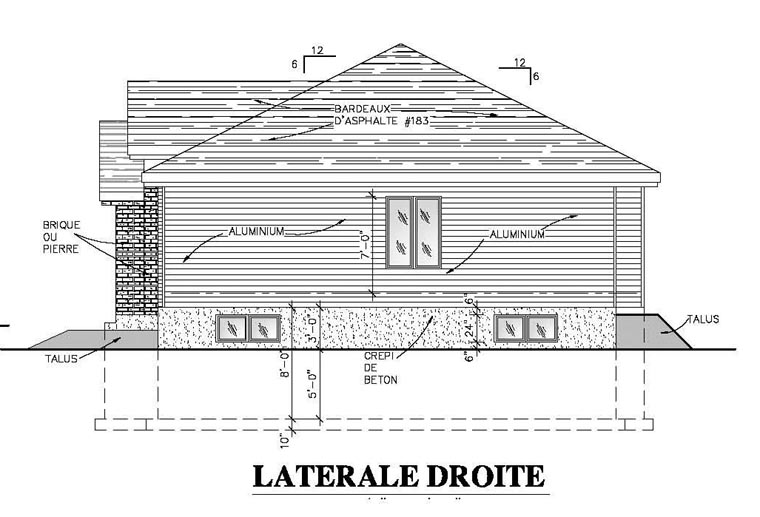 European, Narrow Lot, One-Story House Plan 48053 with 2 Beds, 1 Baths, 1 Car Garage Picture 1