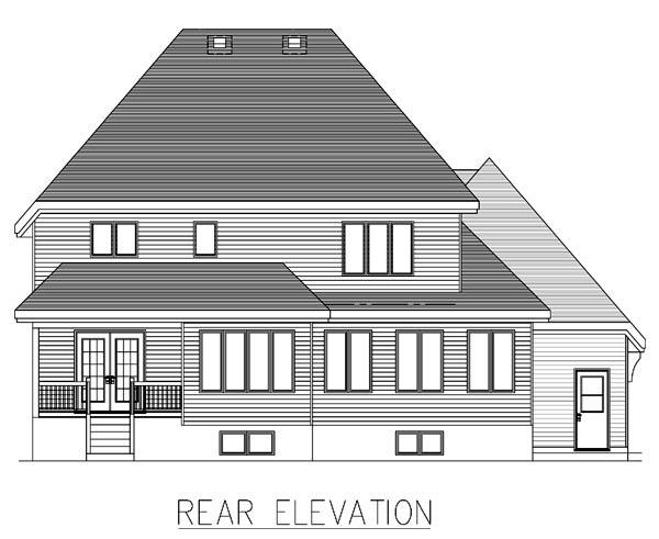 European House Plan 48054 Rear Elevation