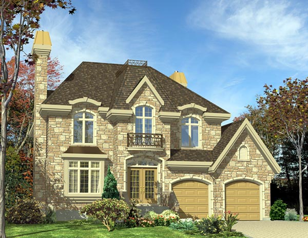 European House Plan 48055 Elevation
