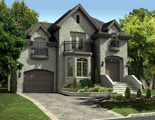 European House Plan 48058 Elevation
