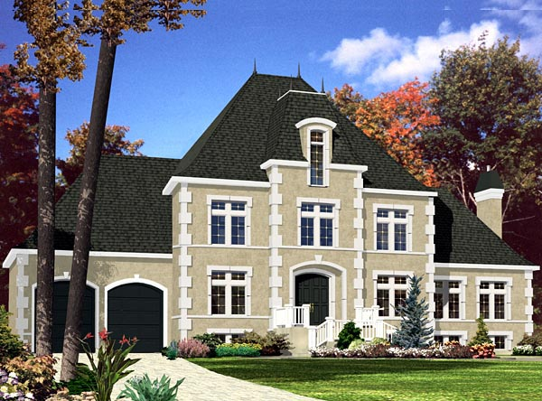 European House Plan 48061 Elevation
