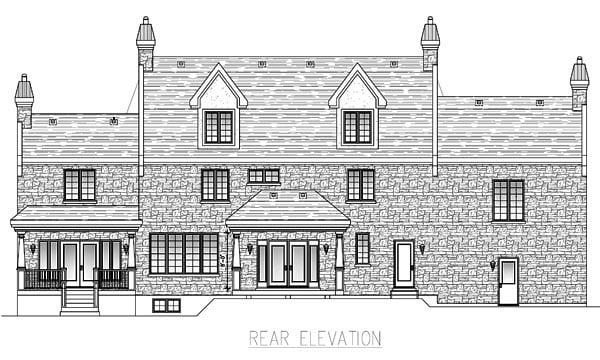 European House Plan 48062 Rear Elevation