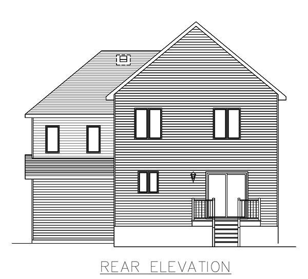 Country European House Plan 48064 Rear Elevation
