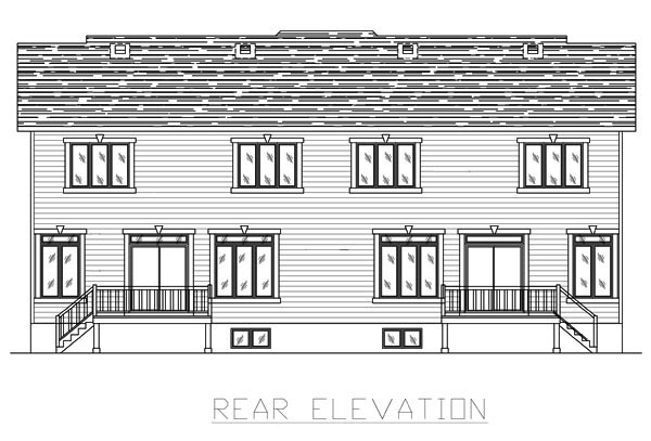 Multi-Family Plan 48065 Rear Elevation