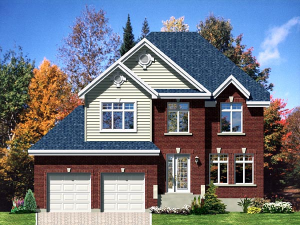 European House Plan 48068 Elevation