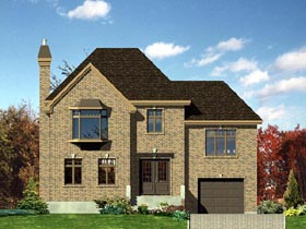 European House Plan 48069 with 3 Beds, 2 Baths, 1 Car Garage Elevation