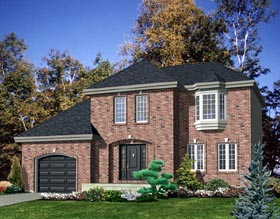 European House Plan 48071 Elevation