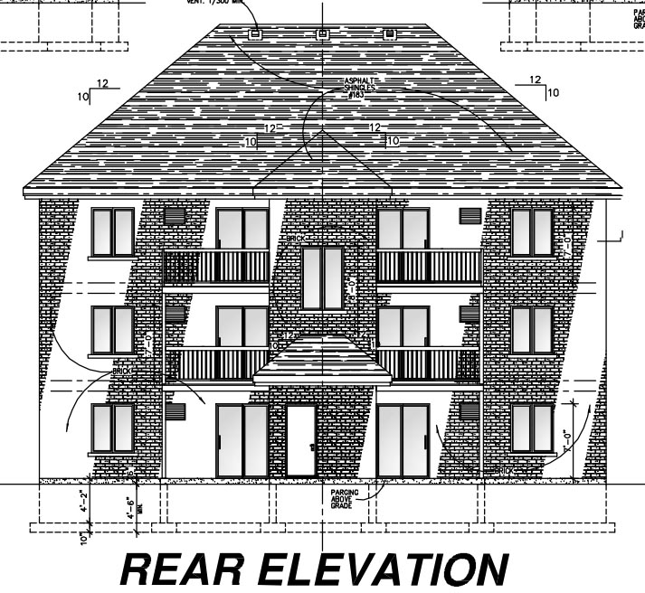 Multi-Family Plan 48073 Rear Elevation