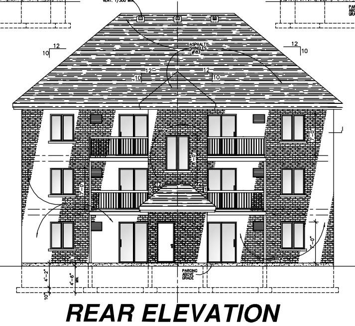 Multi-Family Plan 48073 Rear Elevation