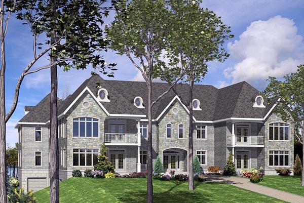 Multi-Family Plan 48075 Elevation