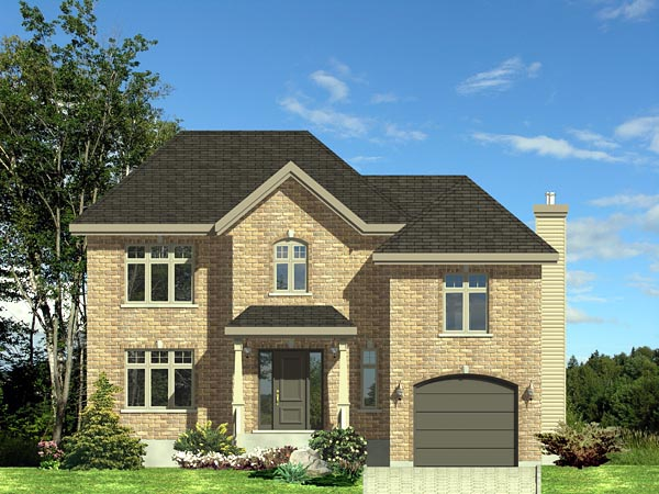 European House Plan 48078 Elevation