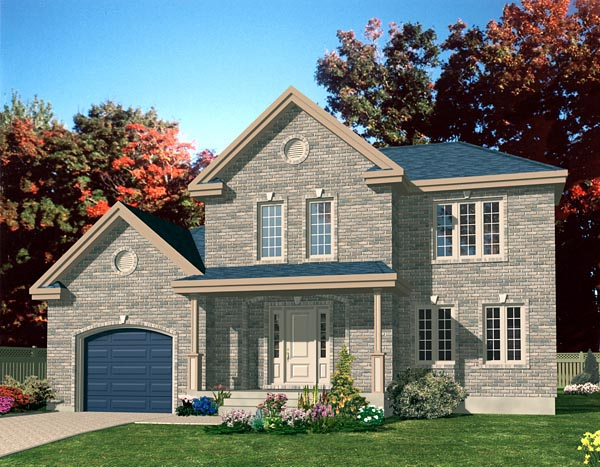 European House Plan 48080 Elevation